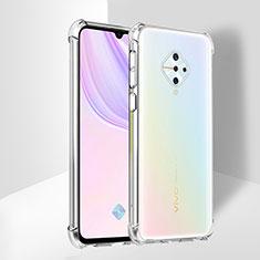 Silikon Schutzhülle Ultra Dünn Tasche Durchsichtig Transparent T02 für Vivo X50 Lite Klar