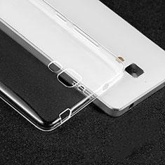 Silikon Schutzhülle Ultra Dünn Tasche Durchsichtig Transparent T02 für Xiaomi Mi 4 LTE Klar
