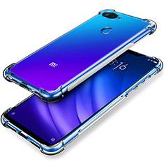 Silikon Schutzhülle Ultra Dünn Tasche Durchsichtig Transparent T02 für Xiaomi Mi 8 Lite Klar