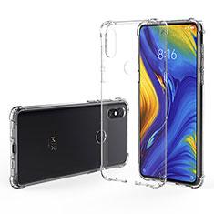 Silikon Schutzhülle Ultra Dünn Tasche Durchsichtig Transparent T02 für Xiaomi Mi Mix 3 Klar