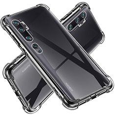 Silikon Schutzhülle Ultra Dünn Tasche Durchsichtig Transparent T02 für Xiaomi Mi Note 10 Klar