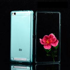 Silikon Schutzhülle Ultra Dünn Tasche Durchsichtig Transparent T02 für Xiaomi Redmi 3 Blau