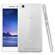 Silikon Schutzhülle Ultra Dünn Tasche Durchsichtig Transparent T02 für Xiaomi Redmi 3 Pro Klar