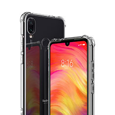 Silikon Schutzhülle Ultra Dünn Tasche Durchsichtig Transparent T02 für Xiaomi Redmi 7 Klar
