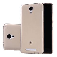 Silikon Schutzhülle Ultra Dünn Tasche Durchsichtig Transparent T02 für Xiaomi Redmi Note 2 Gold