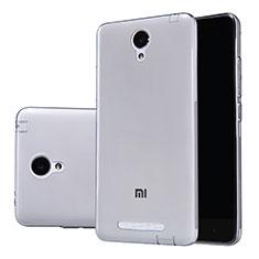Silikon Schutzhülle Ultra Dünn Tasche Durchsichtig Transparent T02 für Xiaomi Redmi Note 2 Grau