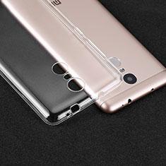 Silikon Schutzhülle Ultra Dünn Tasche Durchsichtig Transparent T02 für Xiaomi Redmi Note 3 Klar