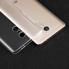 Silikon Schutzhülle Ultra Dünn Tasche Durchsichtig Transparent T02 für Xiaomi Redmi Note 4 Klar