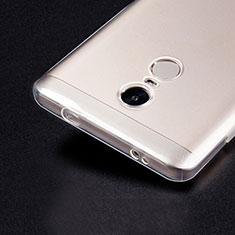 Silikon Schutzhülle Ultra Dünn Tasche Durchsichtig Transparent T02 für Xiaomi Redmi Note 4X Klar