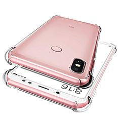 Silikon Schutzhülle Ultra Dünn Tasche Durchsichtig Transparent T02 für Xiaomi Redmi Note 5 AI Dual Camera Klar