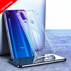 Silikon Schutzhülle Ultra Dünn Tasche Durchsichtig Transparent T02 für Xiaomi Redmi Note 7 Klar