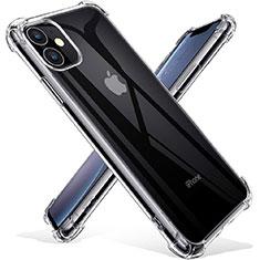 Silikon Schutzhülle Ultra Dünn Tasche Durchsichtig Transparent T03 für Apple iPhone 11 Klar