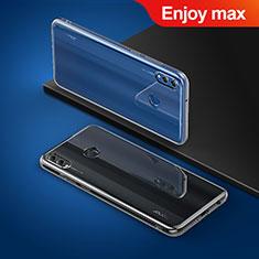 Silikon Schutzhülle Ultra Dünn Tasche Durchsichtig Transparent T03 für Huawei Enjoy Max Klar