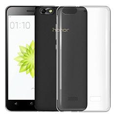 Silikon Schutzhülle Ultra Dünn Tasche Durchsichtig Transparent T03 für Huawei G Play Mini Klar