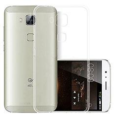 Silikon Schutzhülle Ultra Dünn Tasche Durchsichtig Transparent T03 für Huawei G7 Plus Klar