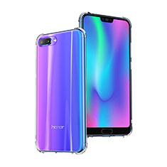 Silikon Schutzhülle Ultra Dünn Tasche Durchsichtig Transparent T03 für Huawei Honor 10 Klar