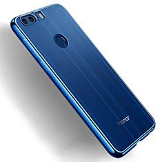 Silikon Schutzhülle Ultra Dünn Tasche Durchsichtig Transparent T03 für Huawei Honor 8 Blau