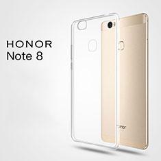 Silikon Schutzhülle Ultra Dünn Tasche Durchsichtig Transparent T03 für Huawei Honor Note 8 Klar