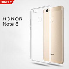 Silikon Schutzhülle Ultra Dünn Tasche Durchsichtig Transparent T03 für Huawei Honor V8 Max Klar