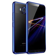 Silikon Schutzhülle Ultra Dünn Tasche Durchsichtig Transparent T03 für Huawei Mate 10 Blau