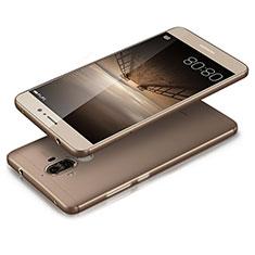 Silikon Schutzhülle Ultra Dünn Tasche Durchsichtig Transparent T03 für Huawei Mate 9 Grau