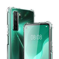 Silikon Schutzhülle Ultra Dünn Tasche Durchsichtig Transparent T03 für Huawei Nova 7 SE 5G Klar