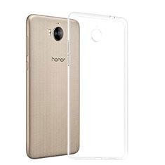 Silikon Schutzhülle Ultra Dünn Tasche Durchsichtig Transparent T03 für Huawei Y6 (2017) Klar