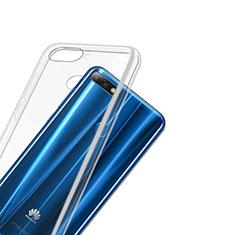 Silikon Schutzhülle Ultra Dünn Tasche Durchsichtig Transparent T03 für Huawei Y7 (2018) Klar