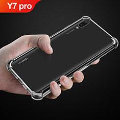 Silikon Schutzhülle Ultra Dünn Tasche Durchsichtig Transparent T03 für Huawei Y7 (2019) Klar