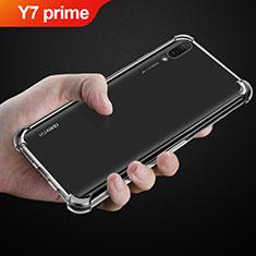 Silikon Schutzhülle Ultra Dünn Tasche Durchsichtig Transparent T03 für Huawei Y7 Prime (2019) Klar