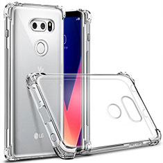 Silikon Schutzhülle Ultra Dünn Tasche Durchsichtig Transparent T03 für LG V30 Klar