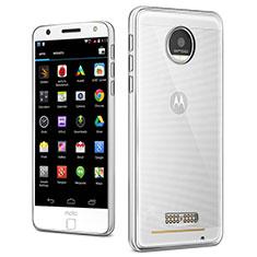 Silikon Schutzhülle Ultra Dünn Tasche Durchsichtig Transparent T03 für Motorola Moto Z Play Klar