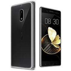 Silikon Schutzhülle Ultra Dünn Tasche Durchsichtig Transparent T03 für Nokia 6 Klar