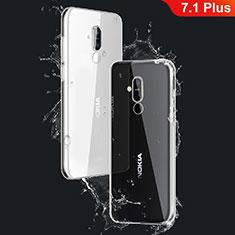 Silikon Schutzhülle Ultra Dünn Tasche Durchsichtig Transparent T03 für Nokia 7.1 Plus Klar