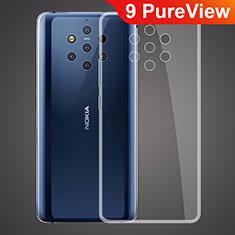 Silikon Schutzhülle Ultra Dünn Tasche Durchsichtig Transparent T03 für Nokia 9 PureView Klar