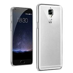Silikon Schutzhülle Ultra Dünn Tasche Durchsichtig Transparent T03 für OnePlus 3 Klar
