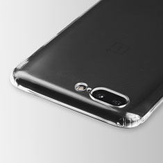 Silikon Schutzhülle Ultra Dünn Tasche Durchsichtig Transparent T03 für OnePlus 5 Klar