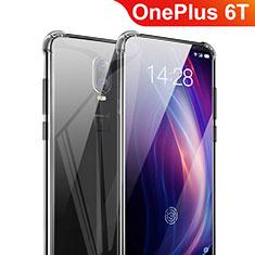 Silikon Schutzhülle Ultra Dünn Tasche Durchsichtig Transparent T03 für OnePlus 6T Klar