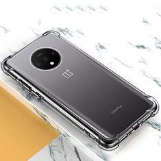 Silikon Schutzhülle Ultra Dünn Tasche Durchsichtig Transparent T03 für OnePlus 7T Klar