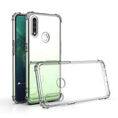 Silikon Schutzhülle Ultra Dünn Tasche Durchsichtig Transparent T03 für Oppo A31 Klar
