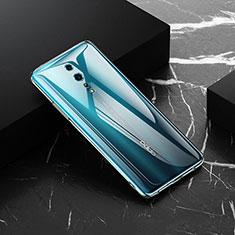 Silikon Schutzhülle Ultra Dünn Tasche Durchsichtig Transparent T03 für Oppo Reno Z Klar