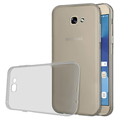 Silikon Schutzhülle Ultra Dünn Tasche Durchsichtig Transparent T03 für Samsung Galaxy A5 (2017) SM-A520F Grau