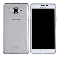 Silikon Schutzhülle Ultra Dünn Tasche Durchsichtig Transparent T03 für Samsung Galaxy A7 Duos SM-A700F A700FD Klar