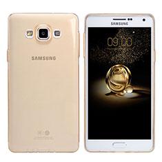 Silikon Schutzhülle Ultra Dünn Tasche Durchsichtig Transparent T03 für Samsung Galaxy A7 SM-A700 Gold
