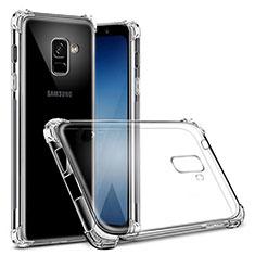 Silikon Schutzhülle Ultra Dünn Tasche Durchsichtig Transparent T03 für Samsung Galaxy A8+ A8 Plus (2018) Duos A730F Klar