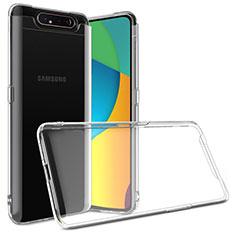 Silikon Schutzhülle Ultra Dünn Tasche Durchsichtig Transparent T03 für Samsung Galaxy A80 Klar