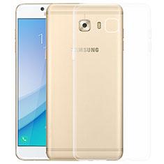 Silikon Schutzhülle Ultra Dünn Tasche Durchsichtig Transparent T03 für Samsung Galaxy C7 Pro C7010 Klar