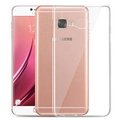 Silikon Schutzhülle Ultra Dünn Tasche Durchsichtig Transparent T03 für Samsung Galaxy C7 SM-C7000 Klar