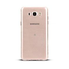 Silikon Schutzhülle Ultra Dünn Tasche Durchsichtig Transparent T03 für Samsung Galaxy J5 Duos (2016) Klar