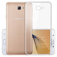 Silikon Schutzhülle Ultra Dünn Tasche Durchsichtig Transparent T03 für Samsung Galaxy J5 Prime G570F Klar
